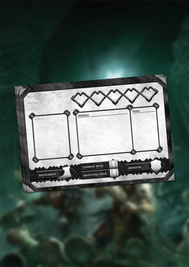 Dungeon Saga: Design Your Own Hero Character Sheet Digital