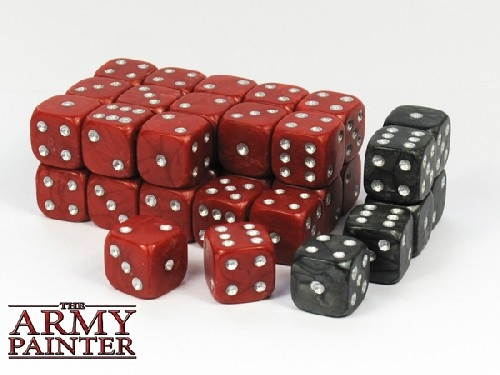 Army Painter Wargaming Dice Black with Red