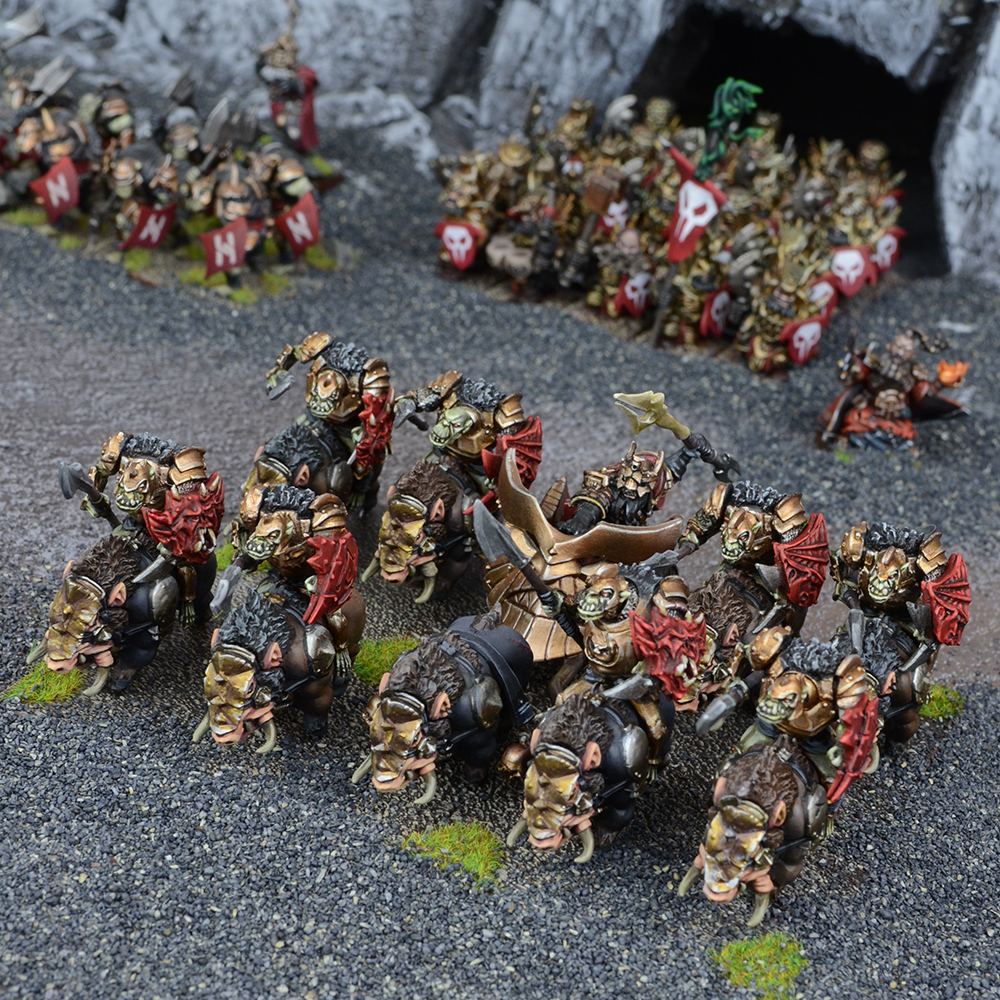 Abyssal Dwarf Slave Orc Gore Rider Regiment
