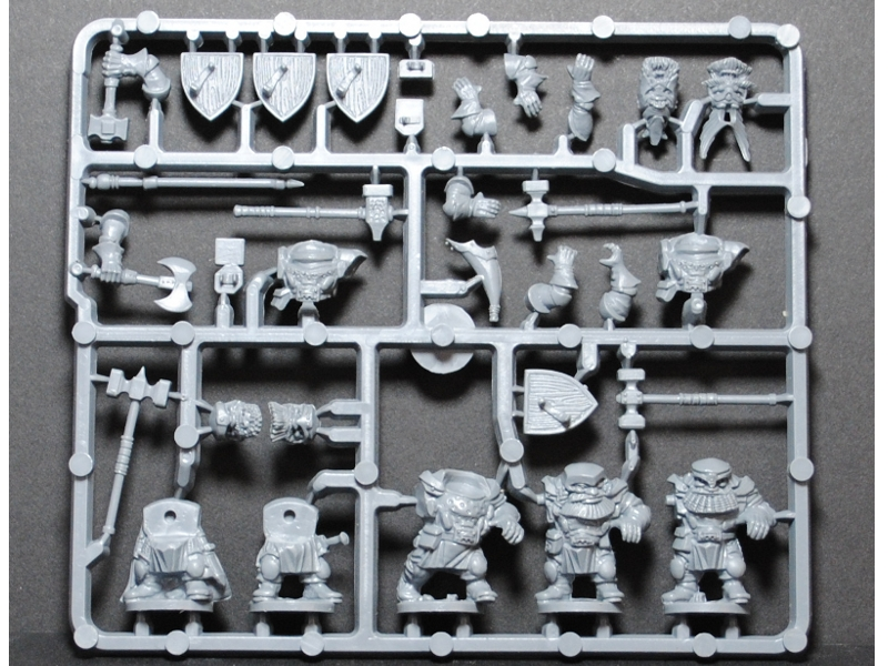 Plastic Frame Dwarf Ironclad Command