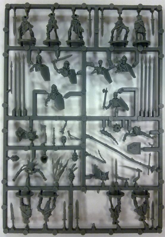 Plastic Frame Undead Skeleton Command