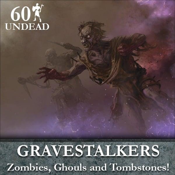 Undead Gravestalker Horde (60 figures & tombstones)