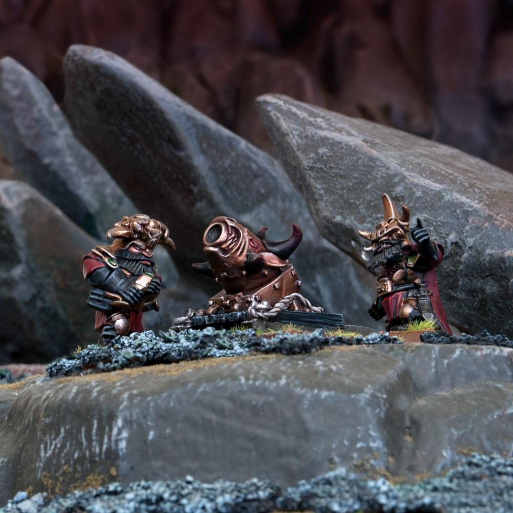 Abyssal Dwarf G'rog Light Mortar (Mantic Direct)