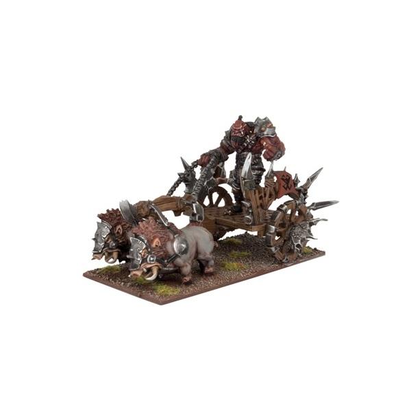 Ogre Captain/Battle Standard Bearer on Chariot