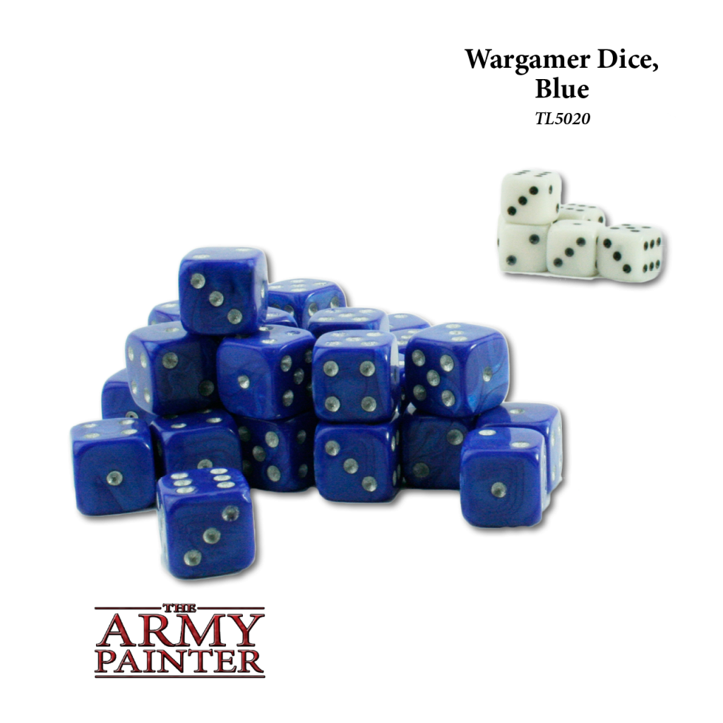 Army Painter Wargaming Dice Blue with White