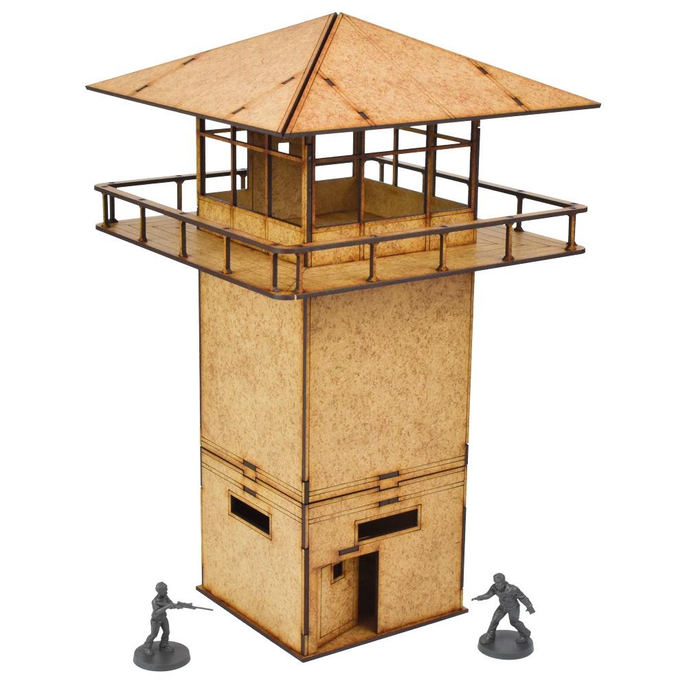 The Walking Dead Prison Tower Scenery Set