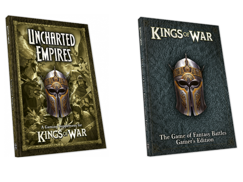 Kings of War Gamers Edition and Uncharted Empires Third Edition