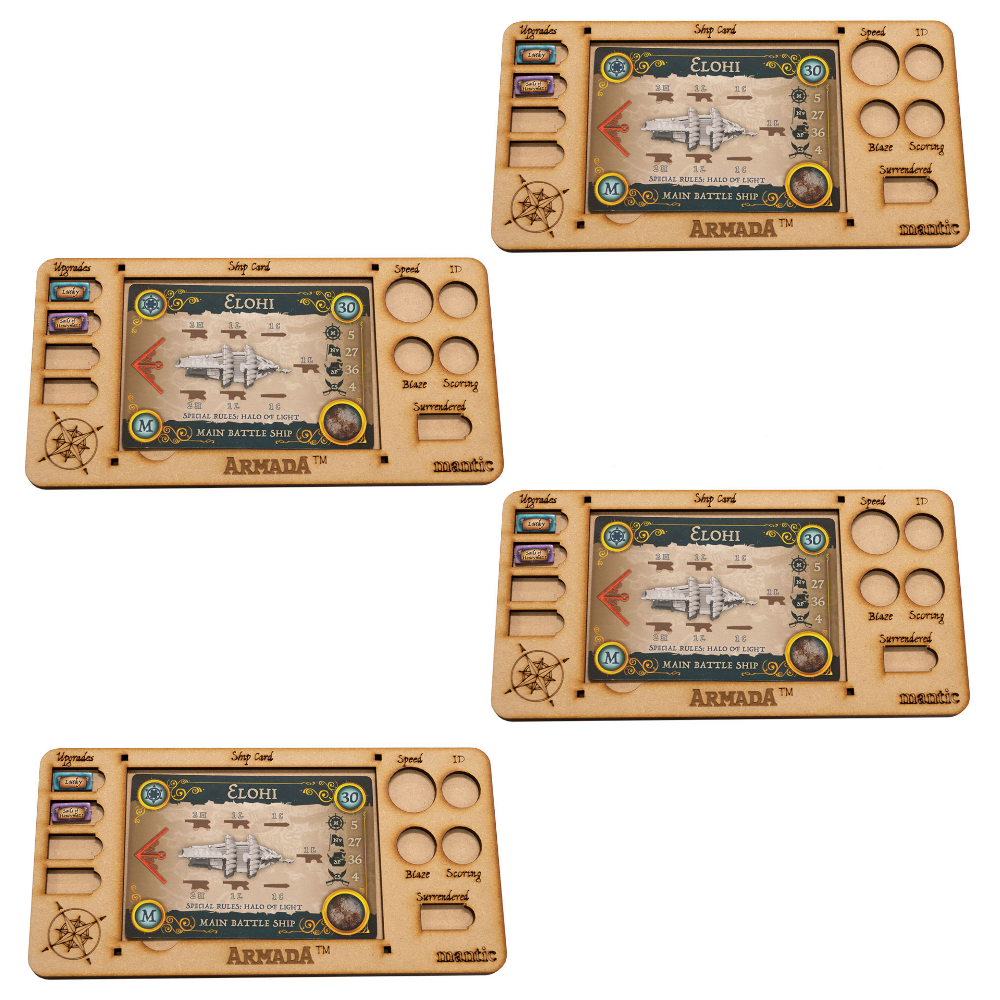 Armada MDF Ship Card Tray Four Pack (Mantic Direct)