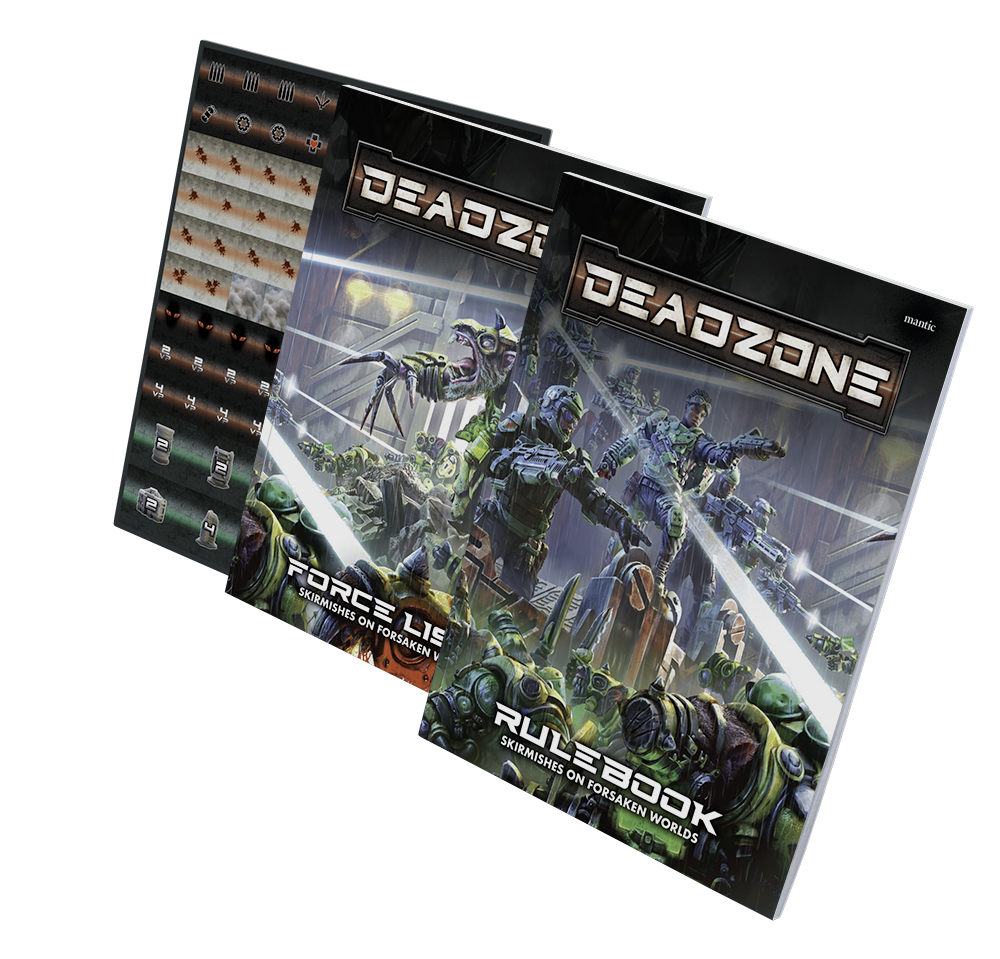 Deadzone 3rd Edition Rulebooks and Counter Sheet Pack